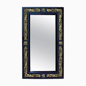 Espejo estilo Luis XVI de madera y yeso dorado, década de 1900