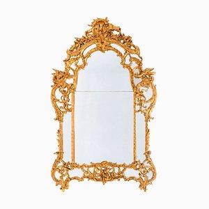 Antiker französischer Regency Spiegel mit vergoldetem Rahmen