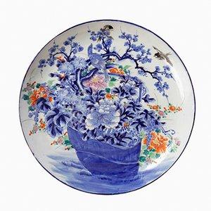 Plato japonés antiguo de porcelana, década de 1900