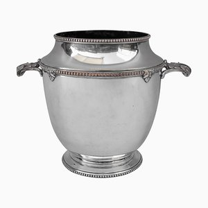 Antique Silvered Bronze Champagne Bucket, 1900s