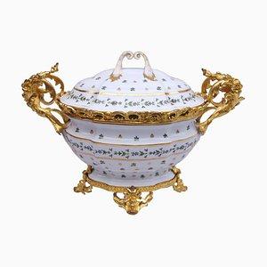 Französische Louis XV Suppenterrine aus Porzellan, 1900er
