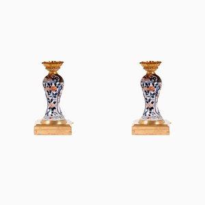 Lampes Imari Anciens en Porcelaine, Set de 2