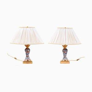 Lámparas Imari antiguos de porcelana. Juego de 2