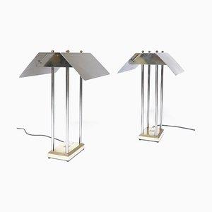 Lámparas de mesa holandesas Mega Watt de Peter Ghyczy, 1981. Juego de 2
