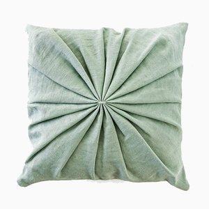 Cuscino Ami verde menta di Lisa Hilland per Mylhta