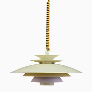Vintage Danish Off-White Pendant Lamp, 1970s