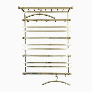 Vintage Hollywood Regency Wall Clothes Rack, 1970s