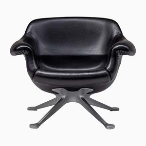Black Model 1110 Lounge Chair by Angelo Mangiarotti for Cassina, 1960s