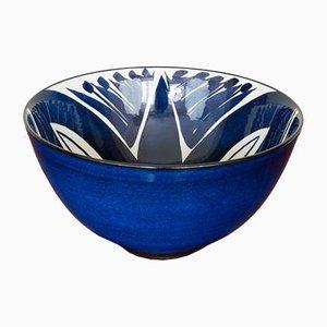 Bol Vintage Bleu Cobalt par Inge-Lise Koefoed pour Royal Copenhagen