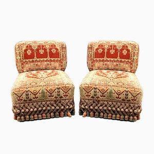 Antique Napoleon III Fireside Lounge Chairs, Set of 2