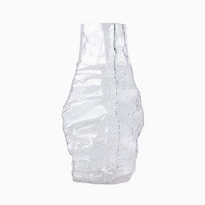 Grand Vase Glacier en Verre de Peill & Putzler, 1970s