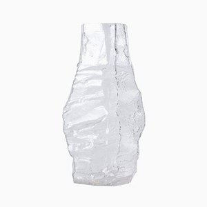 Large Glacier Glass Vase from Peill & Putzler, 1970s