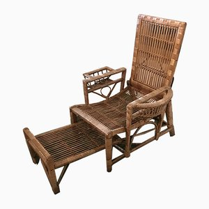 Antique Carved Rattan Garden Chair