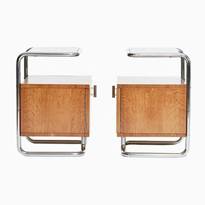 Art Deco Chrome & Tubular Steel Sideboards from Kovona, Set of 2