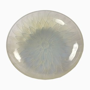 Art Deco French Opalescent Glass Bowl from Edmund Etling, 1930s