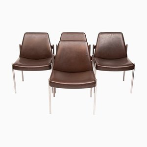Mid-Century Rosewood Dining Chairs by Sven Ivar Dysthe for Dokka Møbler, 1960s, Set of 4