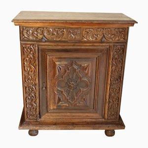 Mobiletto antico in stile rinascimentale in legno di noce, Francia