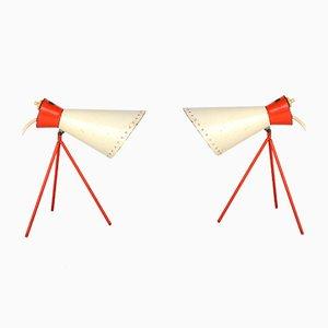 Lampes de Bureau 1618 Modernistes Mid-Century par Josef Hůrka pour Napako, 1950s, Set de 2
