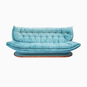 Vintage Moleskin 3-Seater Sofa, 1970s