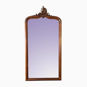 Espejo estilo Rococó grande de madera de roble tallada, años 20