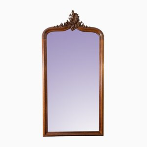 Large Rococo Style Carved Oakwood Mirror, 1920s