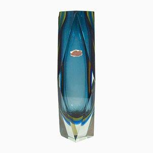 Vinage XXL Murano Glass Vase by Flavio Poli for Mandruzzato, 1970s
