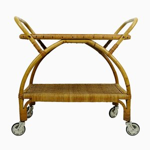 Bamboo & Ratten Tea Serving Trolly, 1950s