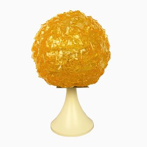 German Amber Plastic Table Lamp, 1970s