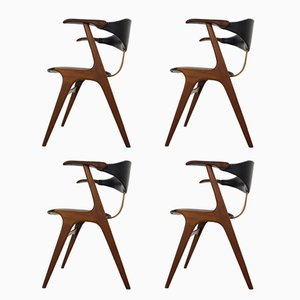 Dining Chairs by Louis van Teeffelen for AWA Meubelfabriek , 1960s, Set of 4