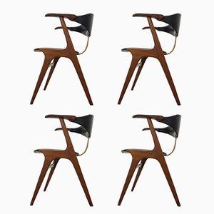 Esszimmerstühle von Louis van Teeffelen für AWA Meubelfabriek, 1960er, 4er Set