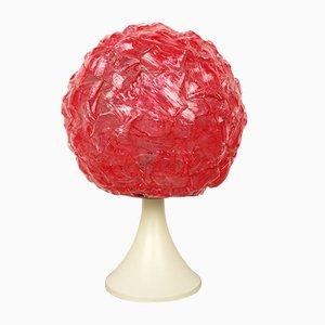 Lámpara de mesa alemana de plástico rojo, años 70
