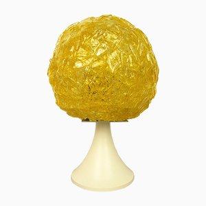 Lámpara de mesa alemana amarilla, años 70
