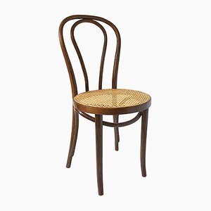 No.18 Bentwood & Rattan Bistro Chair by Michael Thonet for Thonet-Mundus, 1970s