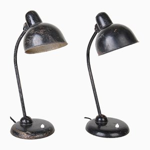 Lampade da scrivania nr. 6551 di Christian Dell per Kaiser Idell, anni '30, set di 2