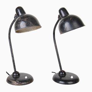 Model 6551 Desk Lamps by Christian Dell for Kaiser Idell/Kaiser Leuchten, 1930s, Set of 2
