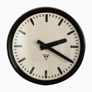 Industrial Bakelite Wall Clock from Pragotron, 1960s