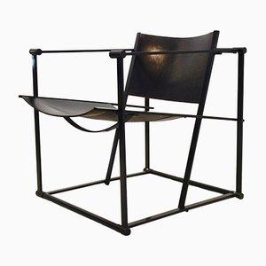 Dutch FM62 Cubic Leather Lounge Chair by Radboud Van Beekum for Pastoe, 1980s