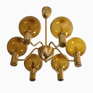 6-Arm T372/6 Patricia Chandelier by Hans-Agne Jakobsson for Markaryd, 1960s