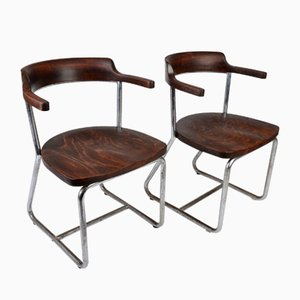 Bauhaus Armchairs by Robert Slezak for Slezak, 1930s, Set of 2