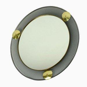Specchi da parete in metallo, anni '50