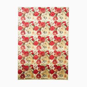 Orientalischer Vintage Teppich mit Blumenmuster, 1980er