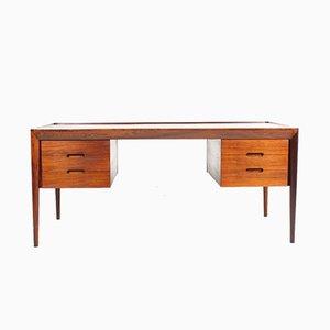 Danish Rosewood Desk by Erik Risager Hansen for Haslev Møbelsnedkeri, 1950s