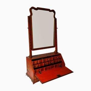 Lackierter Vintage Chinoiserie Frisiertisch mit Schublade & Spiegel