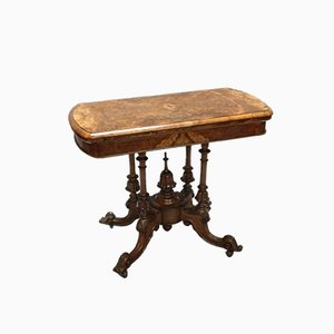 Victorian Burr Walnut Side Table, 1860s