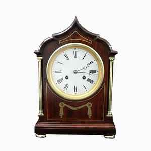 Art Nouveau French Mahogany Mantel Clock from Samuel Marti, 1900s