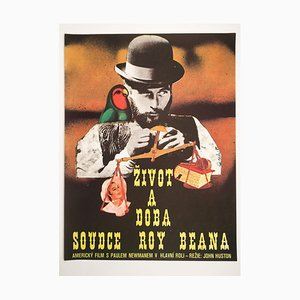 Poster del film The Life and Times of Judge Roy Bean di Petr Vápeník, anni '70