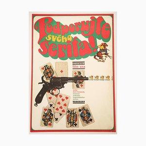 Affiche de Film Support Your Local Sheriff par Karel Vaca, 1970s