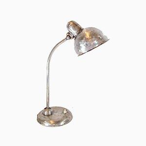 Lámpara de mesa industrial de metal negro de Kaiser Idell, años 20