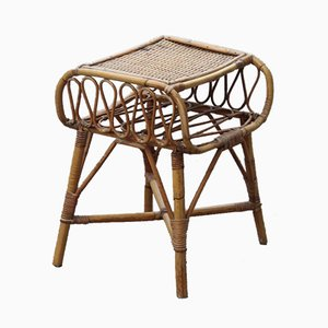 Table de Chevet en Bambou de Bonacina, Italie, 1950s