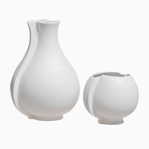 Surrea Vases by Wilhelm Kåge for Gustavsberg, 1930s, Set of 2
